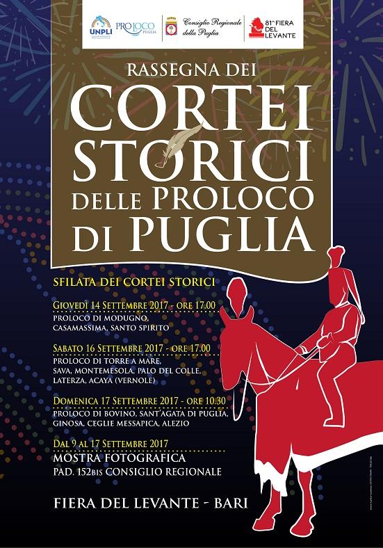 Locandina Cortei storici Pro Loco Puglia